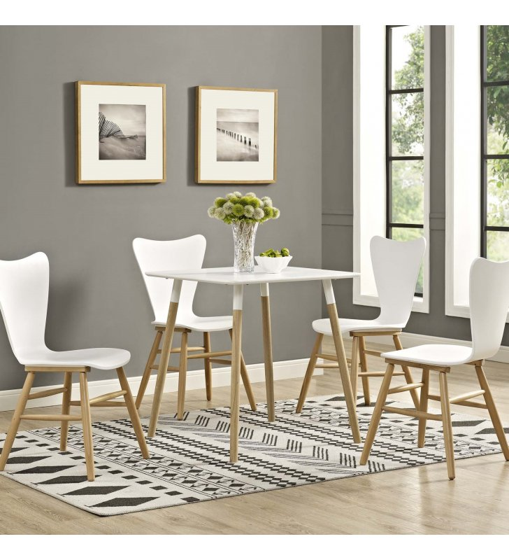 "Continuum 28"" Square Dining Table in White - Lexmod"