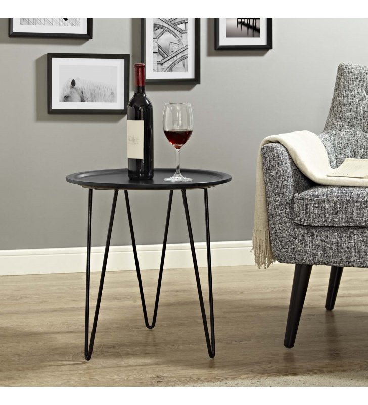 Digress Side Table in Black - Lexmod