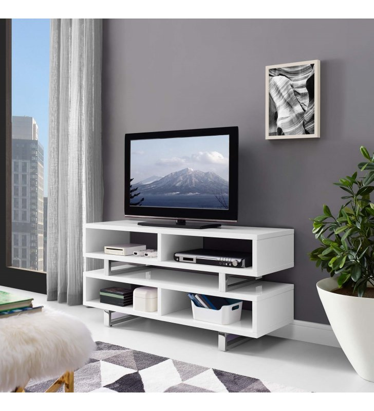 """Amble 47"""" TV Stand in White - Lexmod"""