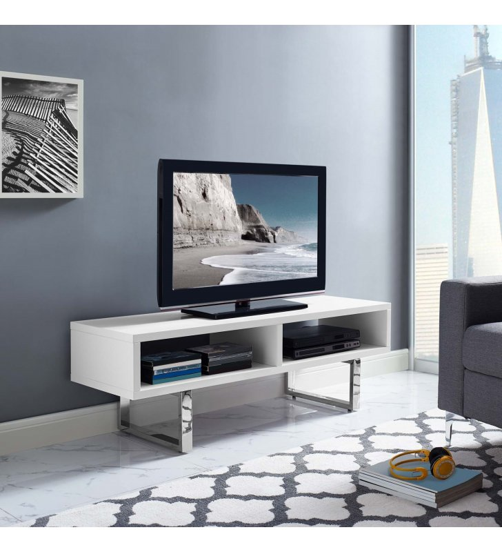 """Amble 47"""" Low Profile TV Stand in White - Lexmod"""