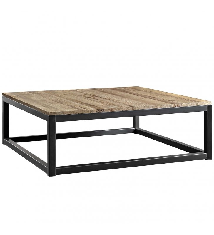 Attune Large Coffee Table in Brown - Lexmod