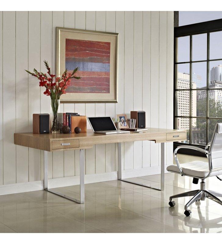 Tinker Office Desk in Natural - Lexmod