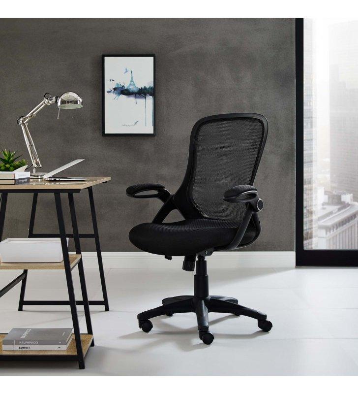 Assert Mesh Office Chair in Black - Lexmod