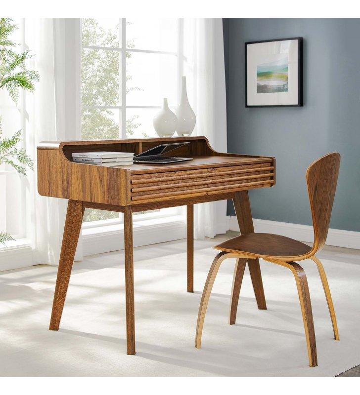 Render Writing Desk in Walnut - Lexmod