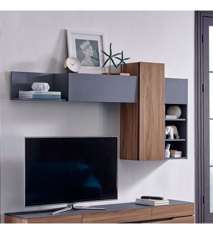Scope Wall Mounted Shelves in Walnut Gray - Lexmod