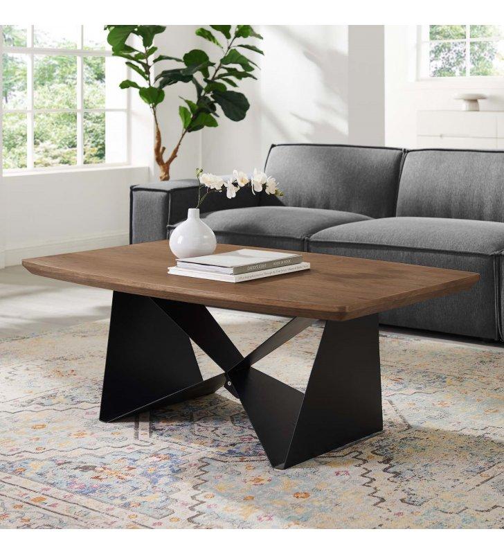 Gemini Coffee Table in Walnut - Lexmod