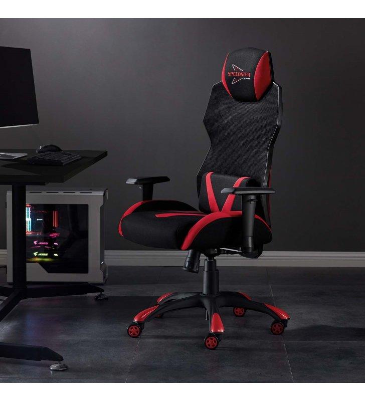 Speedster Mesh Gaming Computer Chair in Black Red - Lexmod