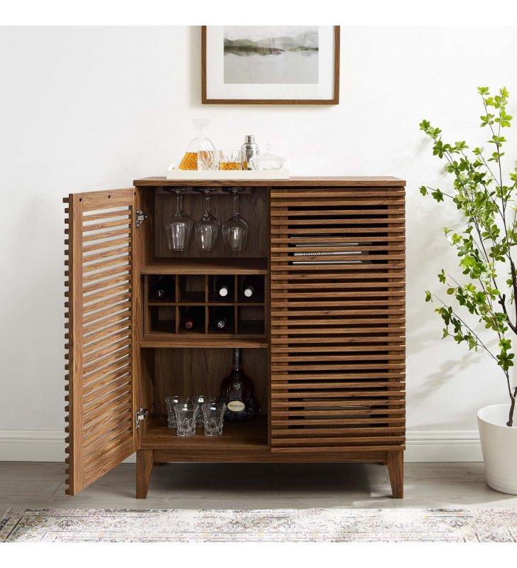 Render Bar Cabinet in Walnut - Lexmod