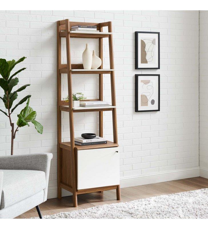 """Bixby 21"""" Bookshelf in Walnut White - Lexmod"""