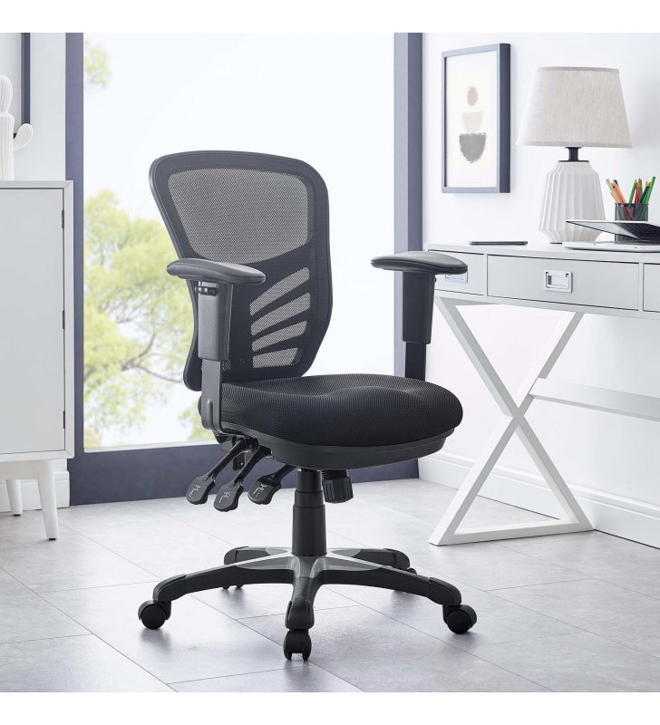 Articulate Mesh Office Chair in Black - Lexmod