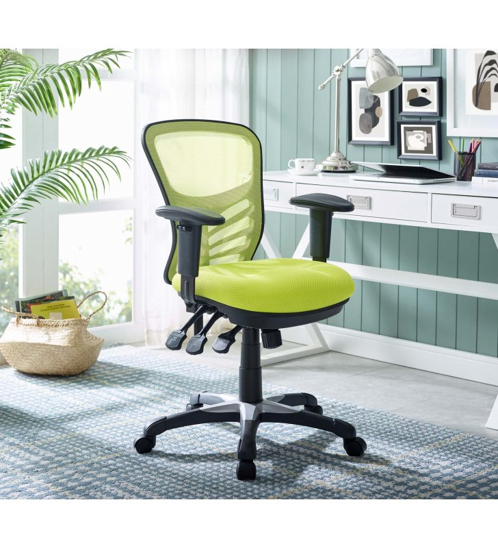 Articulate Mesh Office Chair in Green - Lexmod