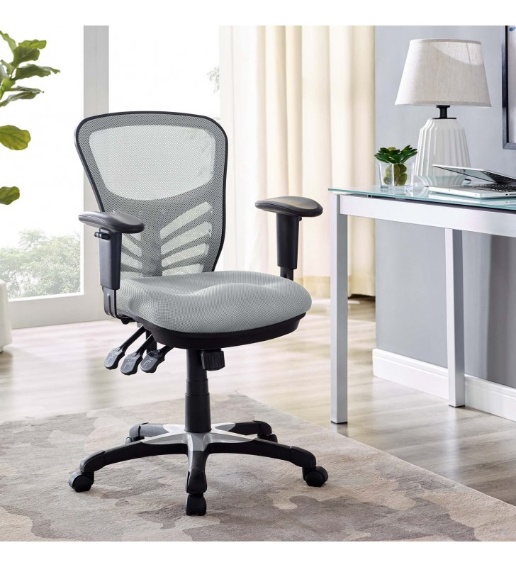 Articulate Mesh Office Chair in Gray - Lexmod