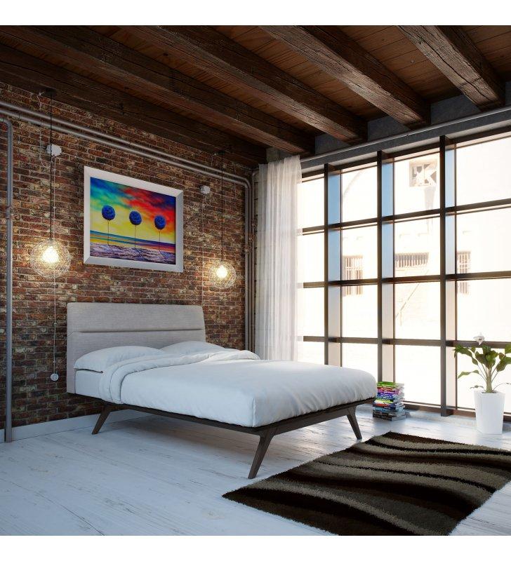 Addison Full Bed in Black Gray - Lexmod