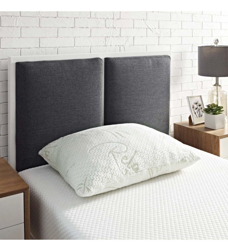 Relax Standard/Queen Size Pillow in White - Lexmod