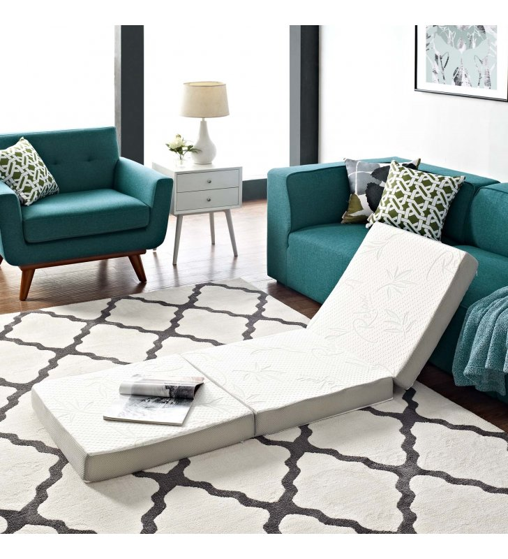 Relax 25 x 75 x 4 Tri-Fold Mattress Topper - Lexmod