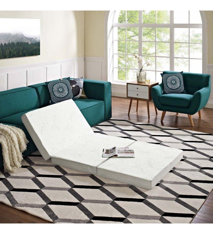 Relax 39 x 75 x 4 (Twin) Tri-Fold Mattress Topper - Lexmod